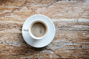 coffee cup on marble table