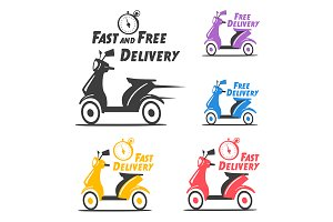 Free and fast delivery icons