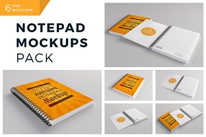 Notepad Mockups Pack