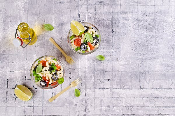 Salad with pasta