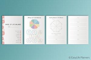 Life Balance Wheel A4 Printable