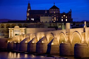 City of Cordoba by Night in Spain