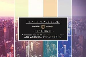 That Vintage Look