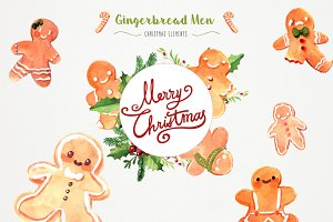 ❄ Watercolor Christmas Gingerbread ❄
