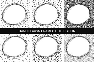 Collection of hand drawn frames