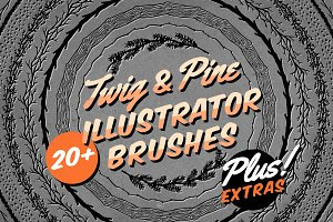 Twig & Pine Illustrator Brushes
