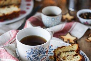 Cinnamon and raisins brioche