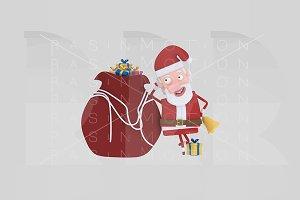 3d illustration. Santa Claus.