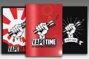 Vector Art For Vape Shop