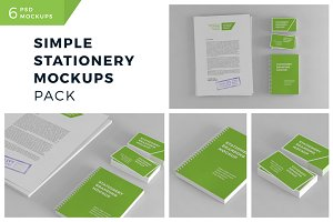 Simple Stationery Mockups Pack