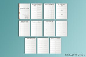 Household Planner A5 Printable