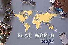 World Map - flat vector