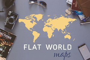World Map - flat vector