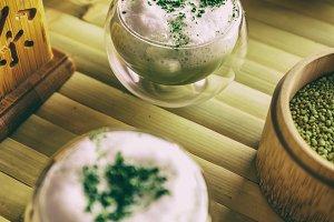 Green tea matcha latte