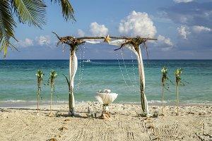 tree roots wedding decor