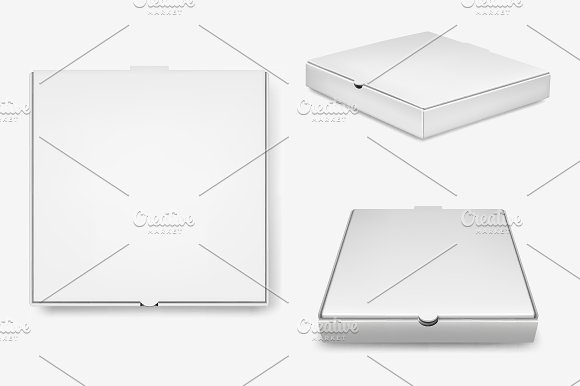Pizza Box Templates. in Product Mockups