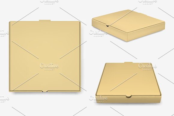 Pizza Box Templates. in Product Mockups - product preview 1