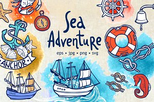 Sea Adventure Sketch Set