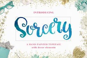 Sorcery Typeface - Brush Script