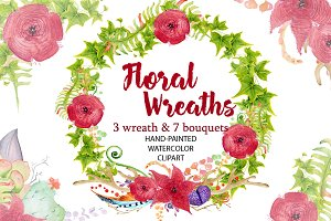 Floral Wreath clipart