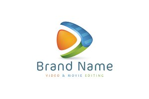 Abstract Video Editing Logo