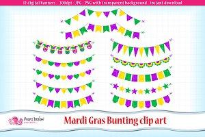 Mardi Gras Bunting clipart