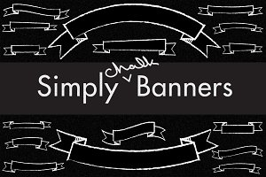 Simply Chalkboard Banners