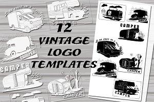Vintage Logo,Badges Camper