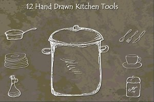 Hand Drawn Kitchen Tools