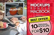 10 Mockups MacBook (pics+PSD)