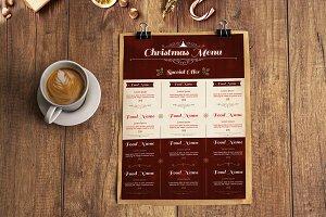 Christmas Menu Poster