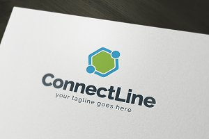 Connect Line Logo Template