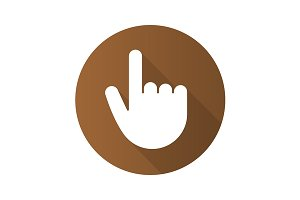 Point up gesture icon. Vector