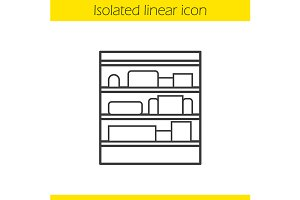 Shop shelves icon. Vector