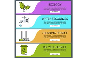 Environment banners. Vector