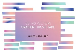 Gradient Washi Tape Pastel