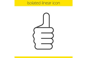Thumbs up gesture icon. Vector