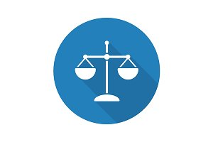 Scales of justice icon. Vector