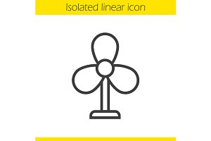 Fan linear icon. Vector