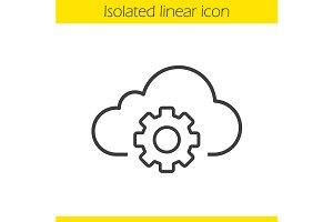 Cloud storage settings icon. Vector