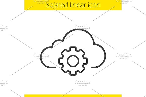 Cloud storage settings icon. Vector - Icons