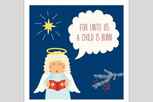 Cute Christmas Angel card