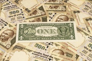 Indian rupee and american dollar