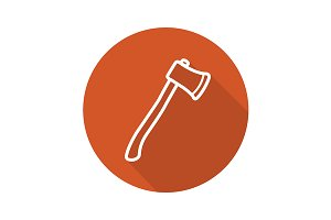 Axe icon. Vector