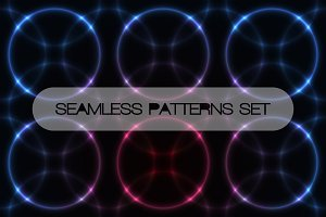 Set of seamless backgrounds