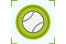 Baseball ball color icon. Vector