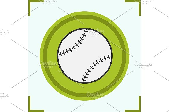 Baseball ball color icon. Vector - Icons