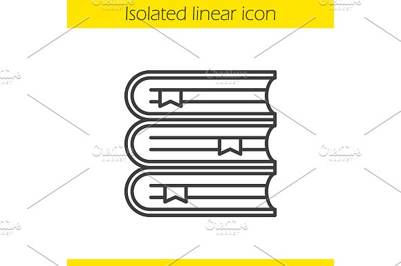 Books stack linear icon. Vector - Icons