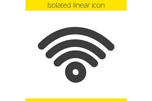 Wi fi signal linear icon. Vector