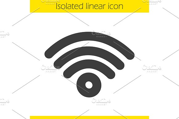 Wi fi signal linear icon. Vector - Icons